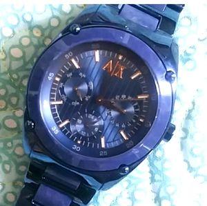 Armani Exchange Watch blue